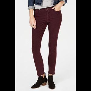 NWT Style & Co Frayed Corduroy Ultra-Skinny Pants